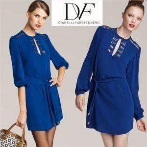 Diane von Furstenberg Dresses - Diane Von Furstenberg Silk Florina Dress Blue sz 0